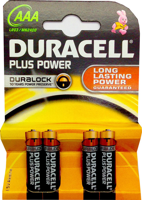 Duracell Plus Power MN2400 AAA Mikro 4er Blister