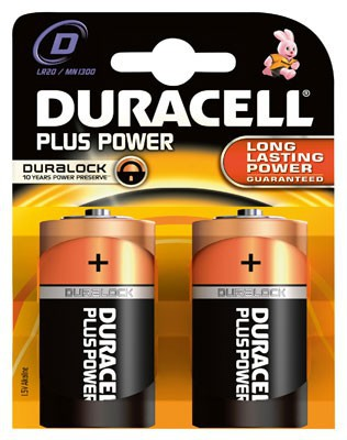 Duracell Plus Power MN1300 D Mono 2er Blister