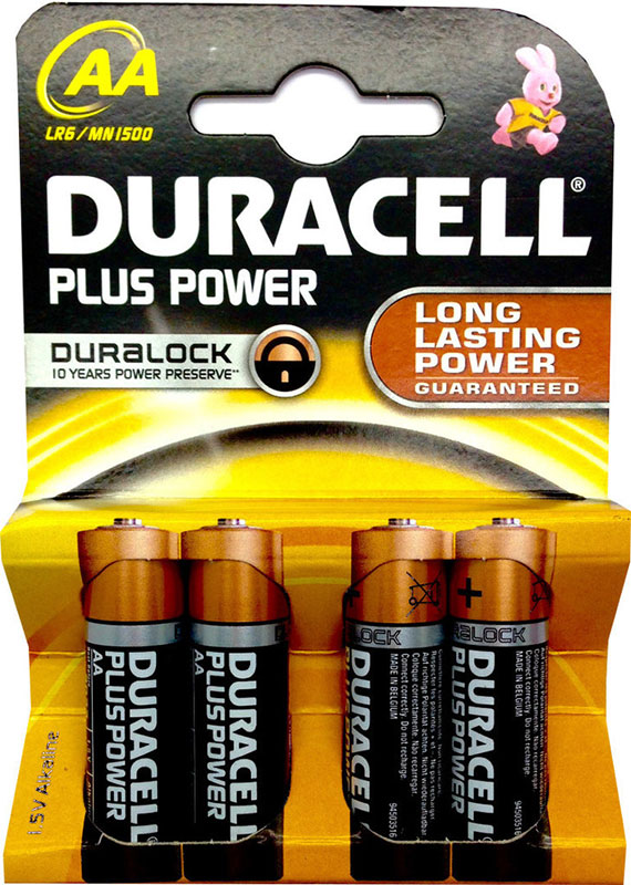 Duracell Plus Power MN1500 AA Mignon 4er Blister