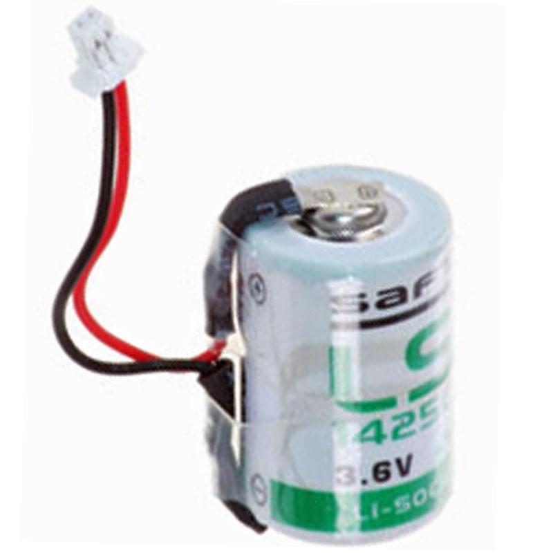 saft ls 14250 1 2aa lithium mit kabel und stecker 2020279 battery kutter akkupack akku. Black Bedroom Furniture Sets. Home Design Ideas