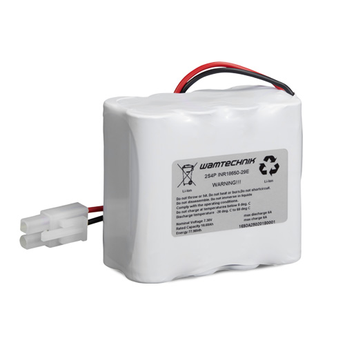 Lithium-Ionen Pack 2S4P 7,3V 10,68Ah