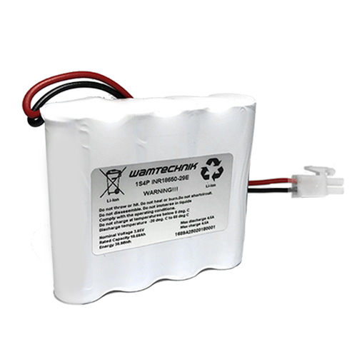 Lithium-Ionen Pack 1S4P 3,65V 10,68Ah
